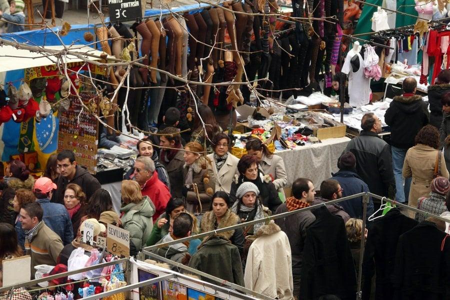 El Rastro Madrid (бълхарски пазар) - открийте с велосипед