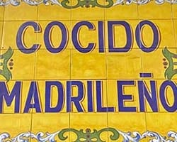 Cocido madrileño - warm up inside!