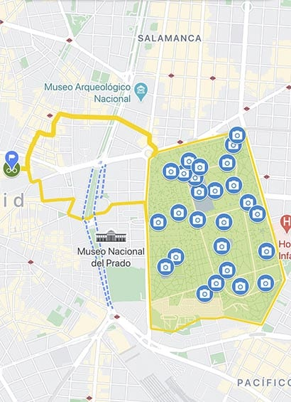 visite guidée à vélo pour enfants à madrid