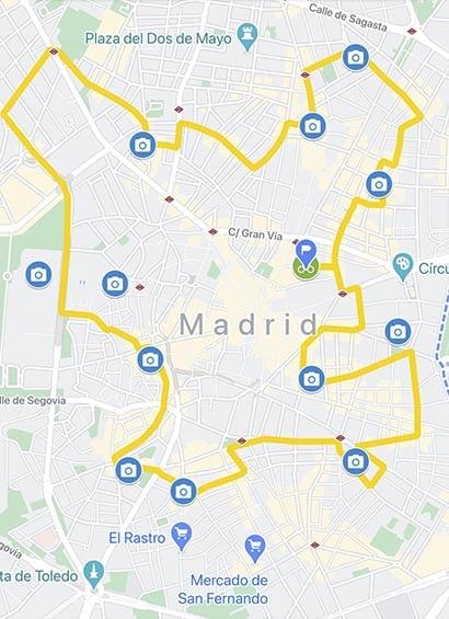 circuit vélo tapas et marchés